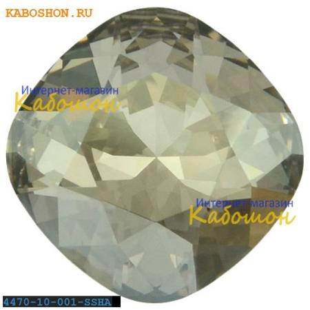 Кристалл Swarovski (Сваровски) Cushion Cut Fancy stone 10 мм Crystal Silver Shade