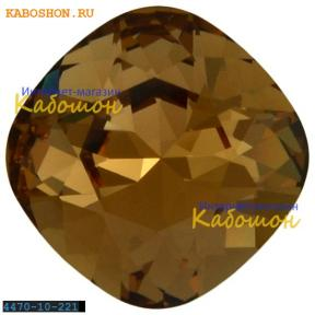 Swarovski Cushion Cut Fancy stone 10 мм Light Smoked Topaz
