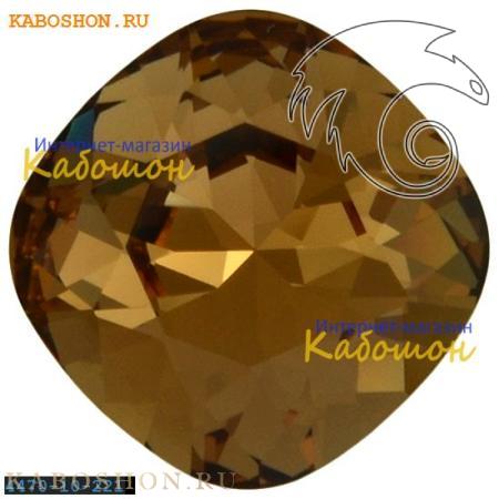 Кристалл Swarovski (Сваровски) Cushion Cut Fancy stone 10 мм Light Smoked Topaz