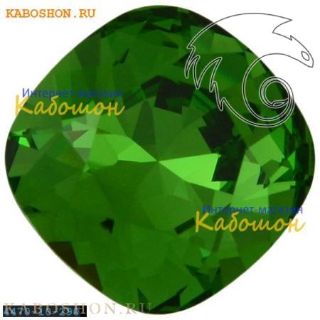 Кристалл Swarovski (Сваровски) Cushion Cut Fancy stone 10 мм Fern Green