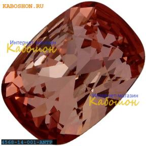 Swarovski Cushion fancy stone 14х10 мм Crystal Antique Pink