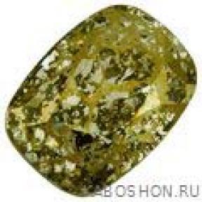 Swarovski Cushion fancy stone 14х10 мм Crystal Gold Patina