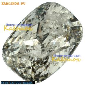 Swarovski Cushion fancy stone 14х10 мм Crystal Silver Patina