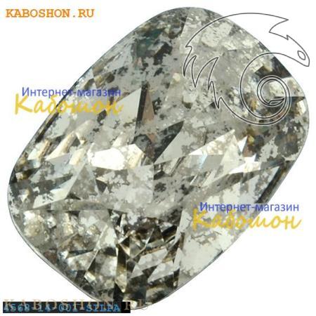 Кристалл Swarovski (Сваровски) Cushion fancy stone 14х10 мм Crystal Silver Patina