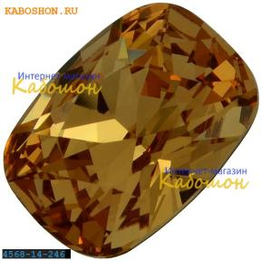 Swarovski Cushion fancy stone 14х10 мм Lt.Colorado Topaz