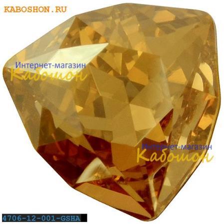 Swarovski Trilliant fancy stone 12 мм Crystal Golden Shadow