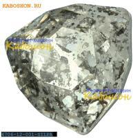 Swarovski Trilliant fancy stone 12 мм Crystal Silver Patina