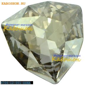 Swarovski Trilliant fancy stone 12 мм Crystal Silver Shade