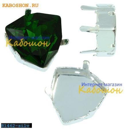 Оправа для Swarovski 4706 Trilliant Fancy stone 12 мм посеребр.