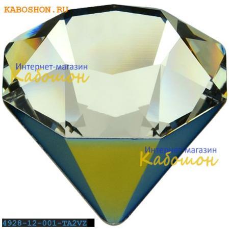Swarovski 4928 Tilted Chaton 12 мм Crystal Tabac 2 VZ