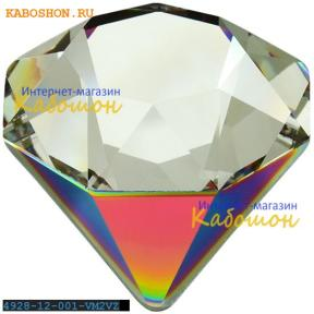 Swarovski 4928 Tilted Chaton 12 мм Crystal Vitrail Medium 2 VZ