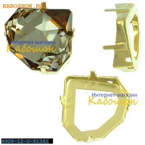 Оправа для Swarovski 4928 Tilted Chaton Fancy stone 12 мм латунь