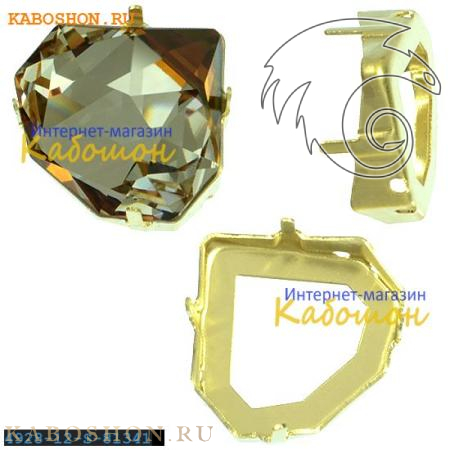 Оправа для Swarovski 4928 Tilted Chaton Fancy stone 12 мм латунь 4928-12-S-81340