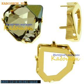 Оправа для Swarovski 4928 Tilted Chaton Fancy stone 12 мм золото
