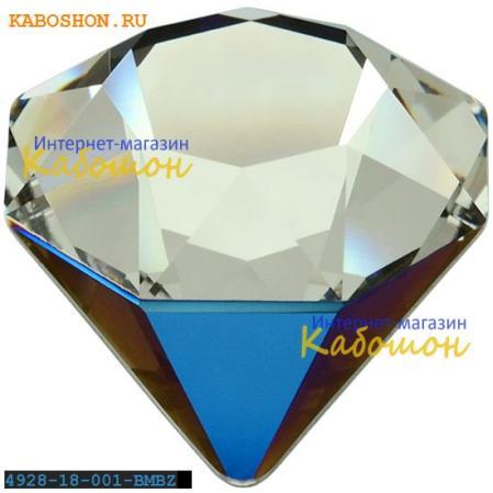 Swarovski 4928 Tilted Chaton 18 мм Crystal Bermuda Metallic Blue