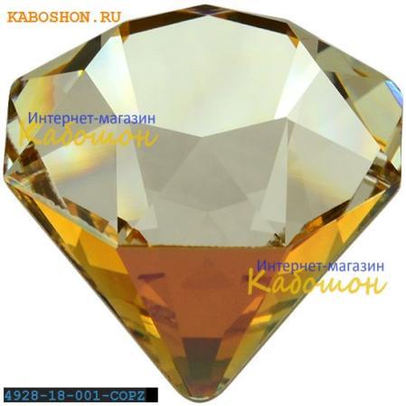 Swarovski 4928 Tilted Chaton 18 мм Crystal Copper Z