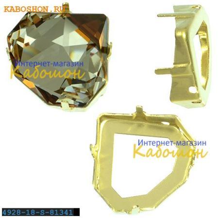 Оправа для Swarovski 4928 Tilted Chaton Fancy stone 18 мм латунь