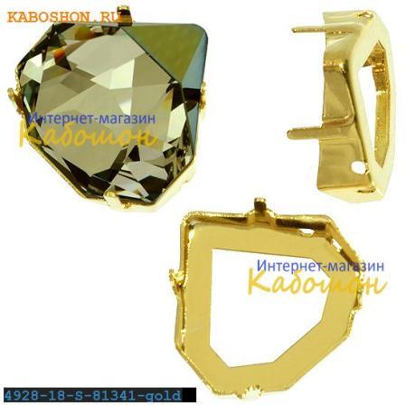 Оправа для Swarovski 4928 Tilted Chaton Fancy stone 18 мм золото