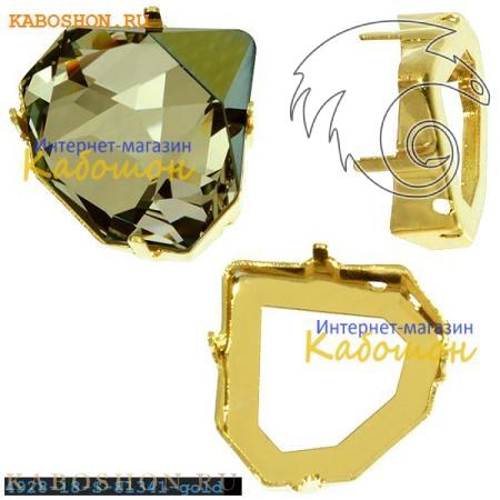 Оправа для Swarovski 4928 Tilted Chaton Fancy stone 18 мм золото 4928-18-S-81341-gold