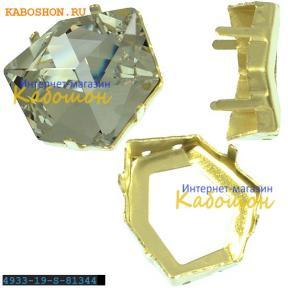 Оправа для Swarovski 4933 Tilted Dice Fancy stone 19 мм латунь