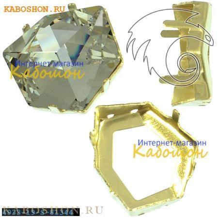 Оправа для Swarovski 4933 Tilted Dice Fancy stone 19 мм латунь 4933-19-S-81344