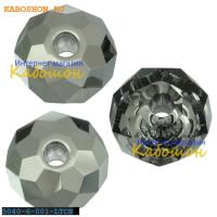 Swarovski Briolette bead 6 мм Crystal Light Chrome