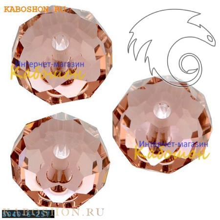 Бусина Swarovski (Сваровски) Briolette bead 6 мм Blush Rose