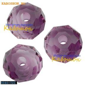 Swarovski Briolette bead 6 мм Amethyst Blend