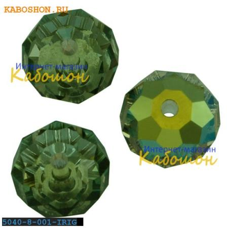 Бусина Swarovski (Сваровски) Briolette bead 8 мм Crystal Iridescent Green