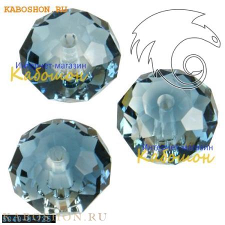 Бусина Swarovski (Сваровски) Briolette bead 8 мм Crystal-Montana Blend