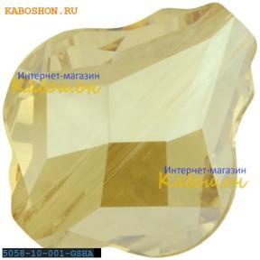 Swarovski 5058 Baroque bead 10 мм Crystal Golden Shadow