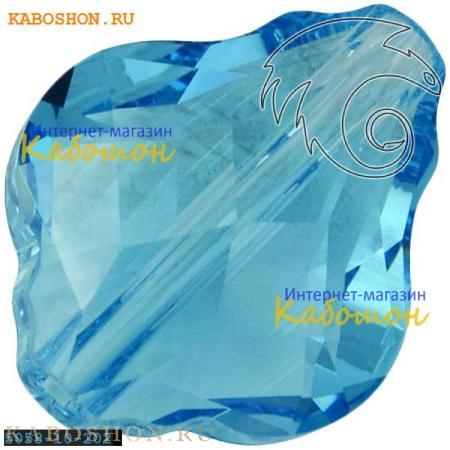 Бусина Swarovski (Сваровски) 5058 Baroque bead 10 мм Aquamarine