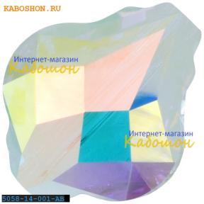 Swarovski 5058 Baroque bead 14 мм Crystal AB