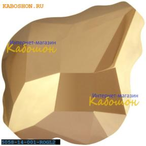 Swarovski 5058 Baroque bead 14 мм Crystal Rose Gold 2x