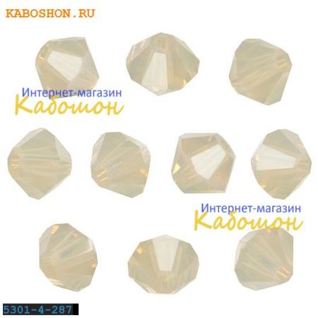 Бусина биконус Swarovski (Сваровски) Xilion beads 4 мм Sand Opal