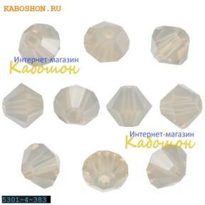 Swarovski Xilion beads 4 мм Light Grey Opal