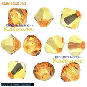 Swarovski Xilion beads 3 мм Crystal Metallic Sunshine