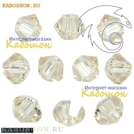 Бусина биконус Swarovski (Сваровски) Xilion beads 3 мм Ceylon Topaz