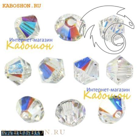 Swarovski Xilion beads 3 мм Crystal AB 5328-3-001-AB