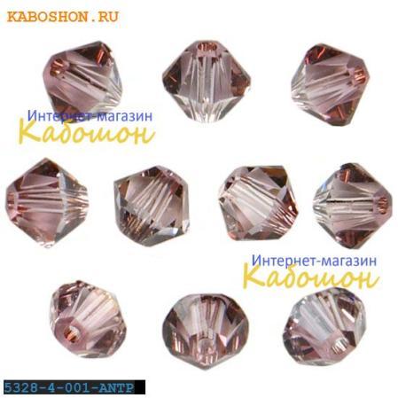 Swarovski Xilion beads 4 мм Crystal Antique Pink