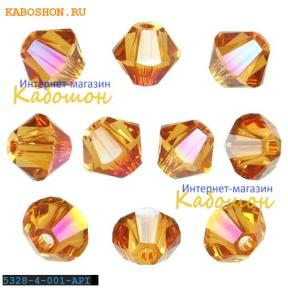 Swarovski Xilion beads 4 мм Crystal Astral Pink