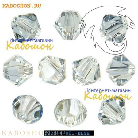 Бусина биконус Swarovski (Сваровски) Xilion beads 3 мм Crystal Blue Shade