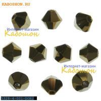 Swarovski Xilion beads 3 мм Crystal Dorado 2x