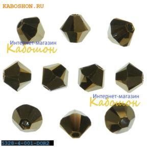 Swarovski Xilion beads 4 мм Crystal Dorado 2x