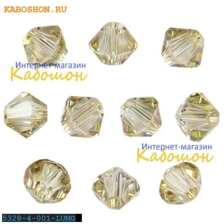 Swarovski Xilion beads 3 мм Crystal Luminous Green