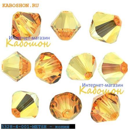 Swarovski Xilion beads 4 мм Crystal Metallic Sunshine