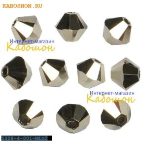 Swarovski Xilion beads 4 мм Crystal Metallic light gold 2x