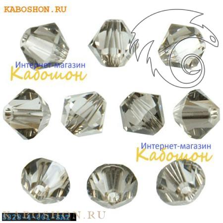 Бусина биконус Swarovski (Сваровски) Xilion beads 4 мм Crystal Satin