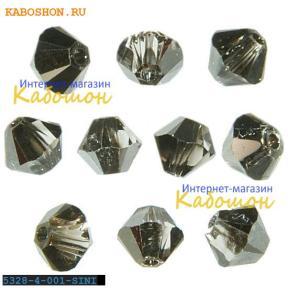 Swarovski Xilion beads 4 мм Crystal Silver Night