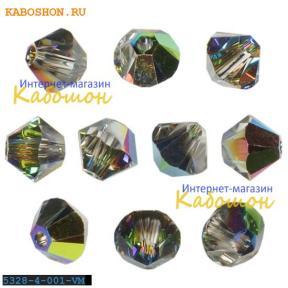 Swarovski Xilion beads 3 мм Crystal Vitrail Medium
